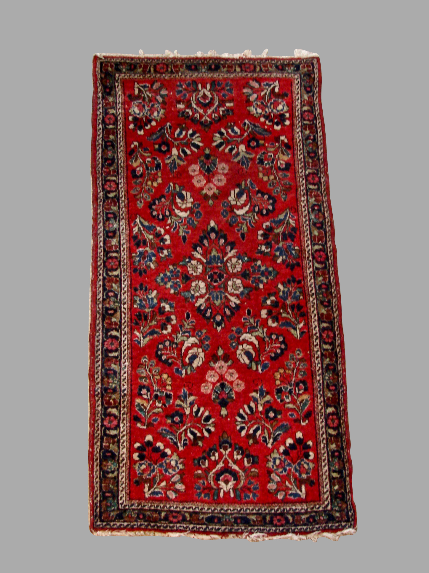 Sarouk Area Rug of Small Size with Floral Design | DANIEL STEIN Antiques San Francisco CA