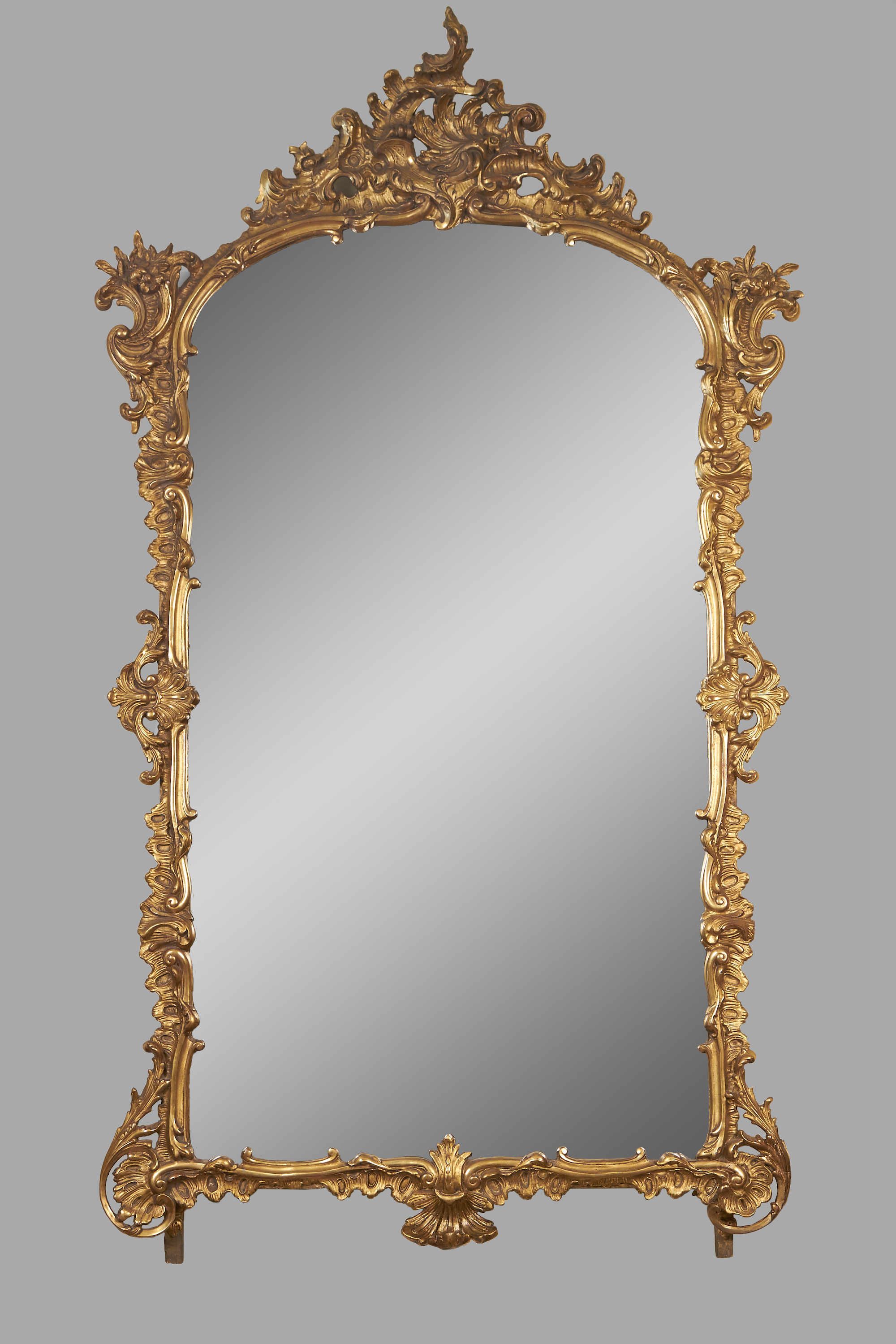 Louis XV Style Giltwood Mirror with Original Glass