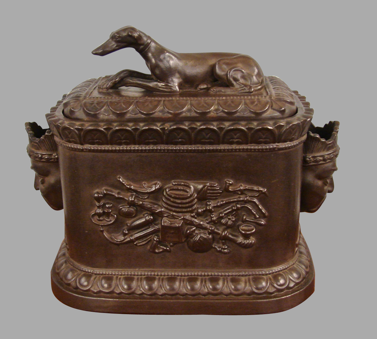 Regency Opium Humidor with Whippet Finial by Robinson and Wood