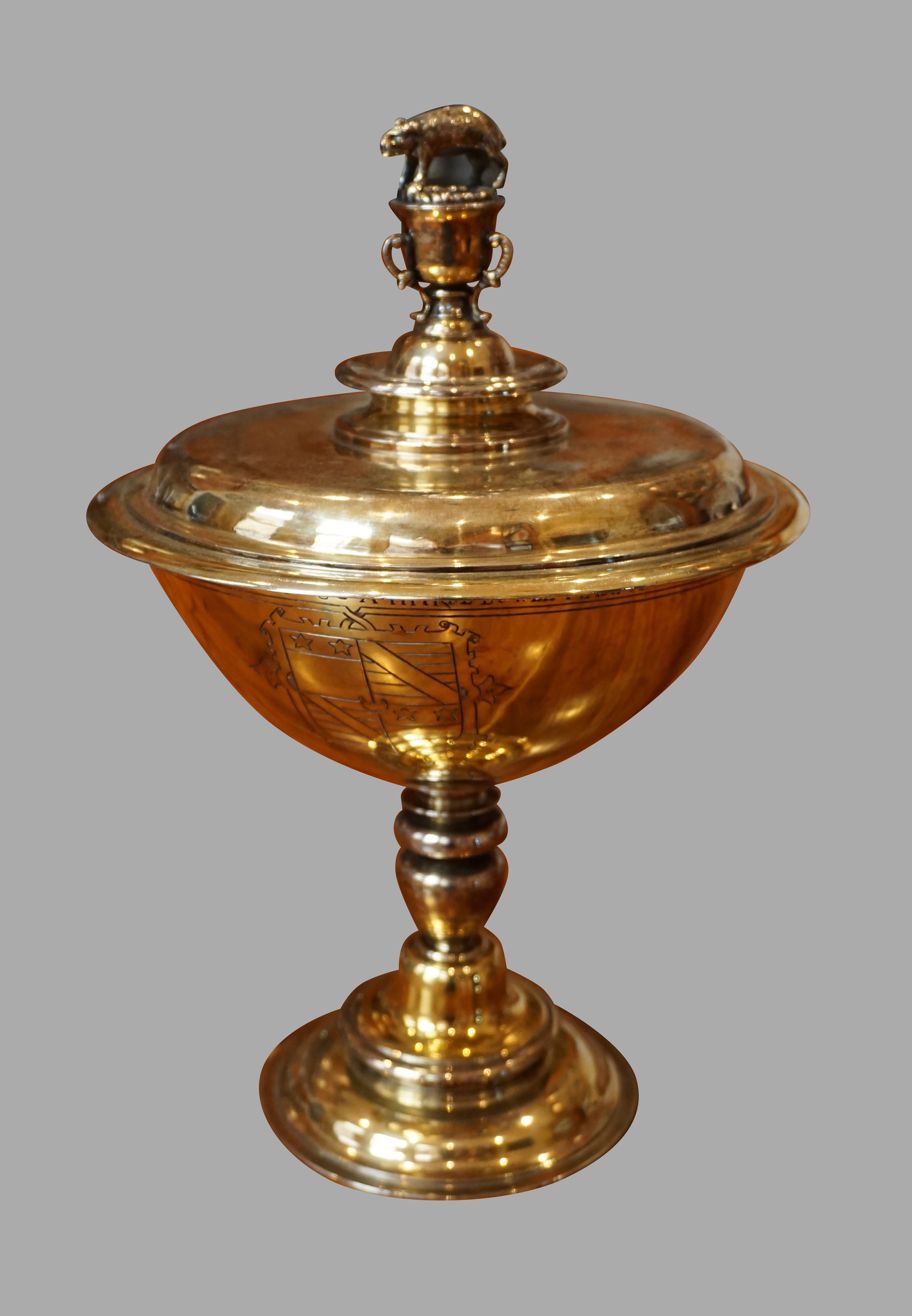 Edwardian Silver Gilt Replica of the Elizabethan Bacon Cup | DANIEL STEIN Antiques San Francisco CA