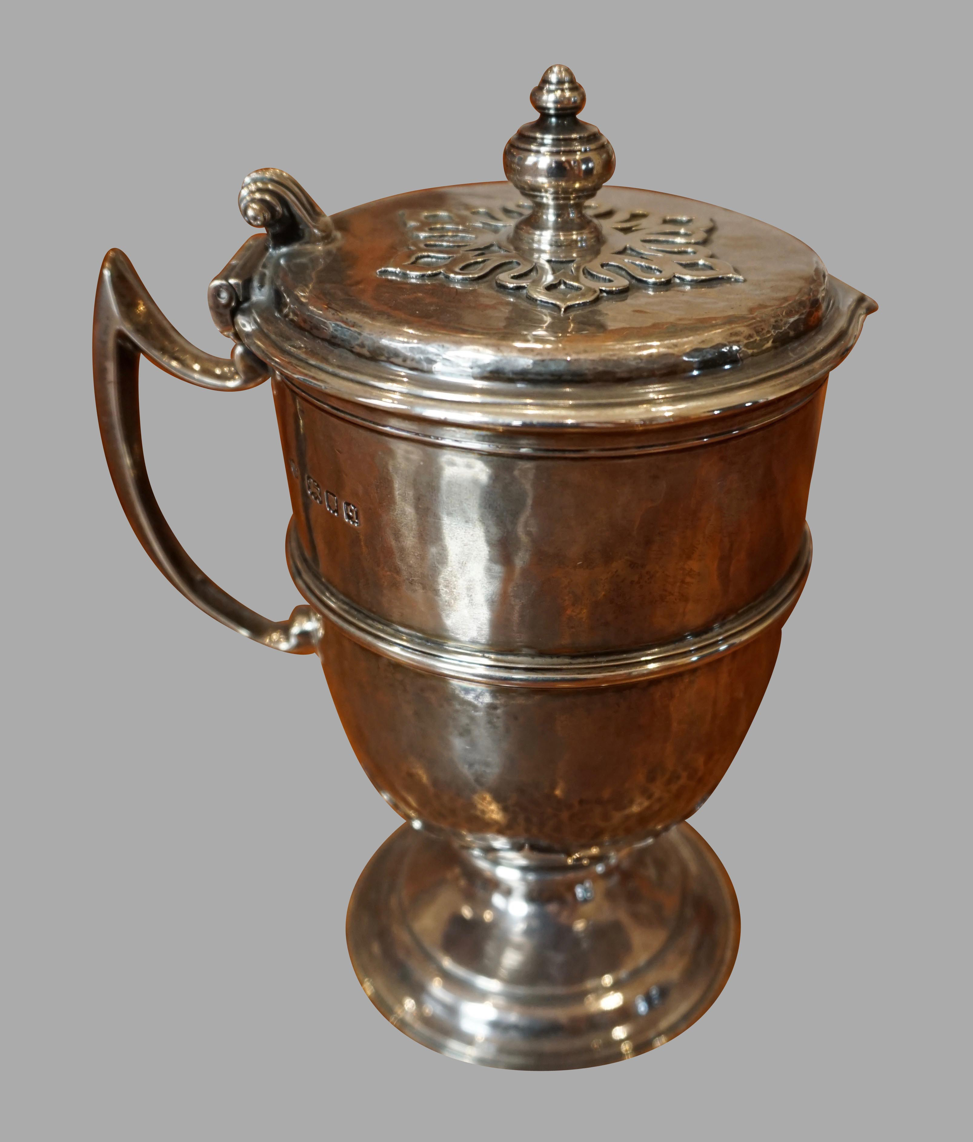 English Sterling Lidded Ewer | DANIEL STEIN Antiques San Francisco CA