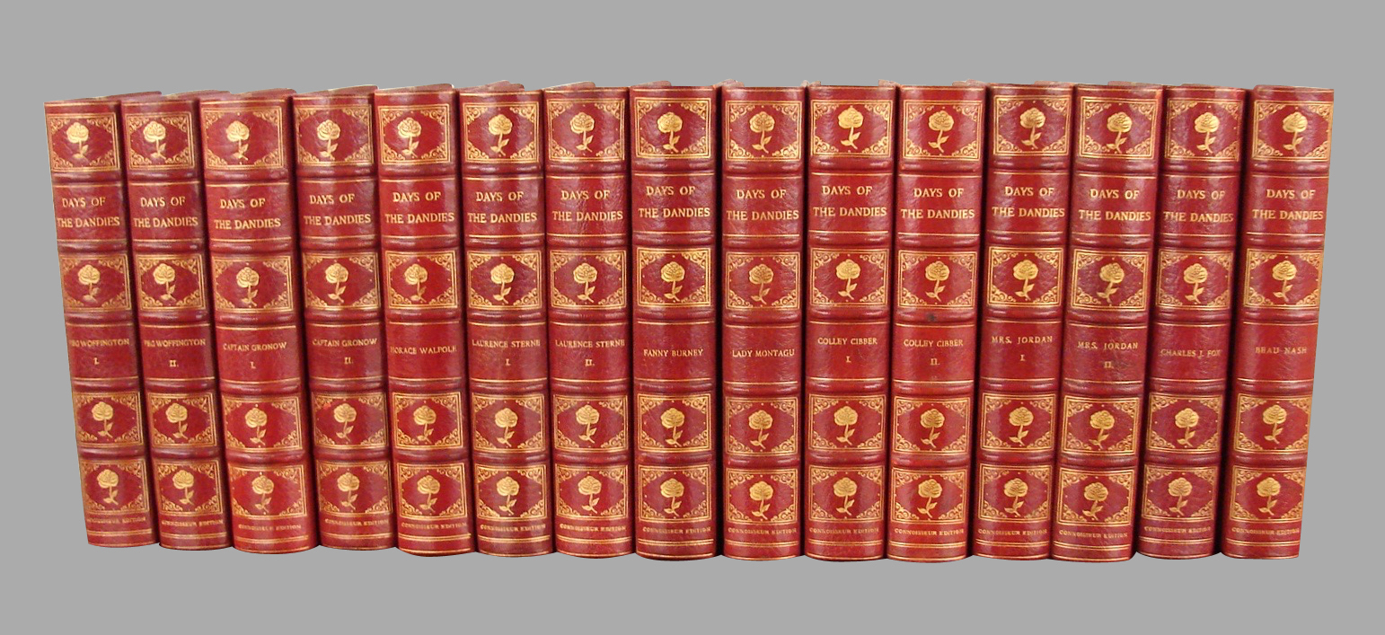 15 volume set Days of the Dandies, Grolier Society | DANIEL STEIN Antiques San Francisco CA
