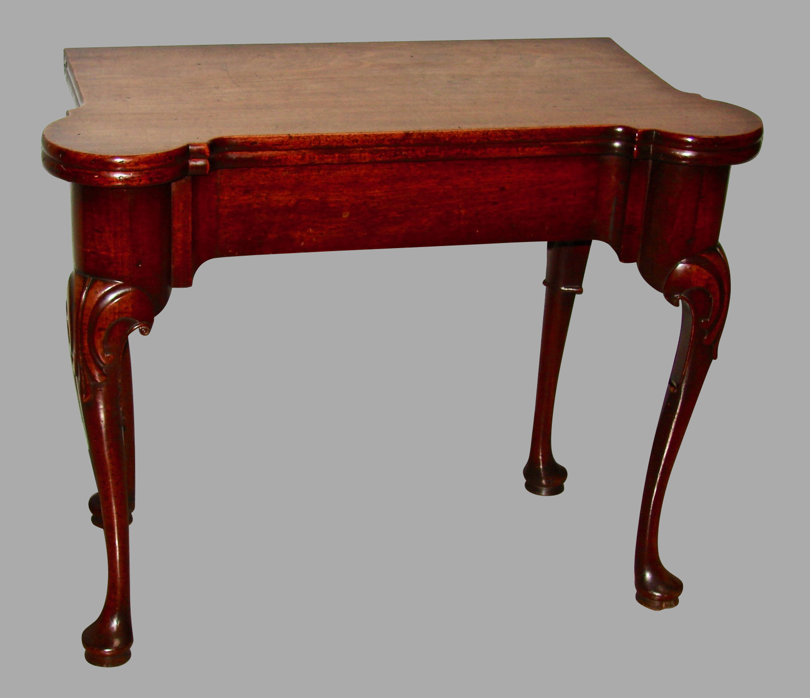 George II Mahogany Games Table with Concertina Action | DANIEL STEIN Antiques San Francisco CA