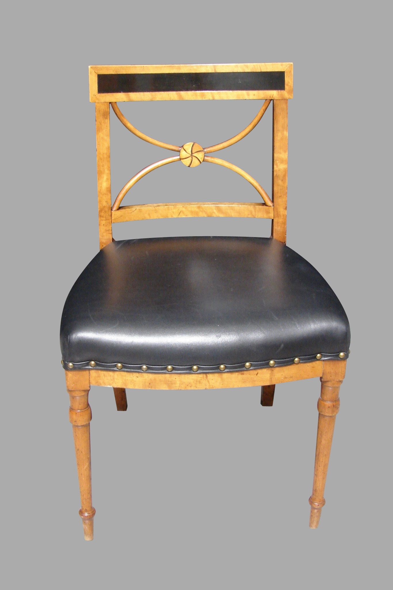 Biedermeier Fruitwood and Ebony Side Chair | DANIEL STEIN Antiques San Francisco CA
