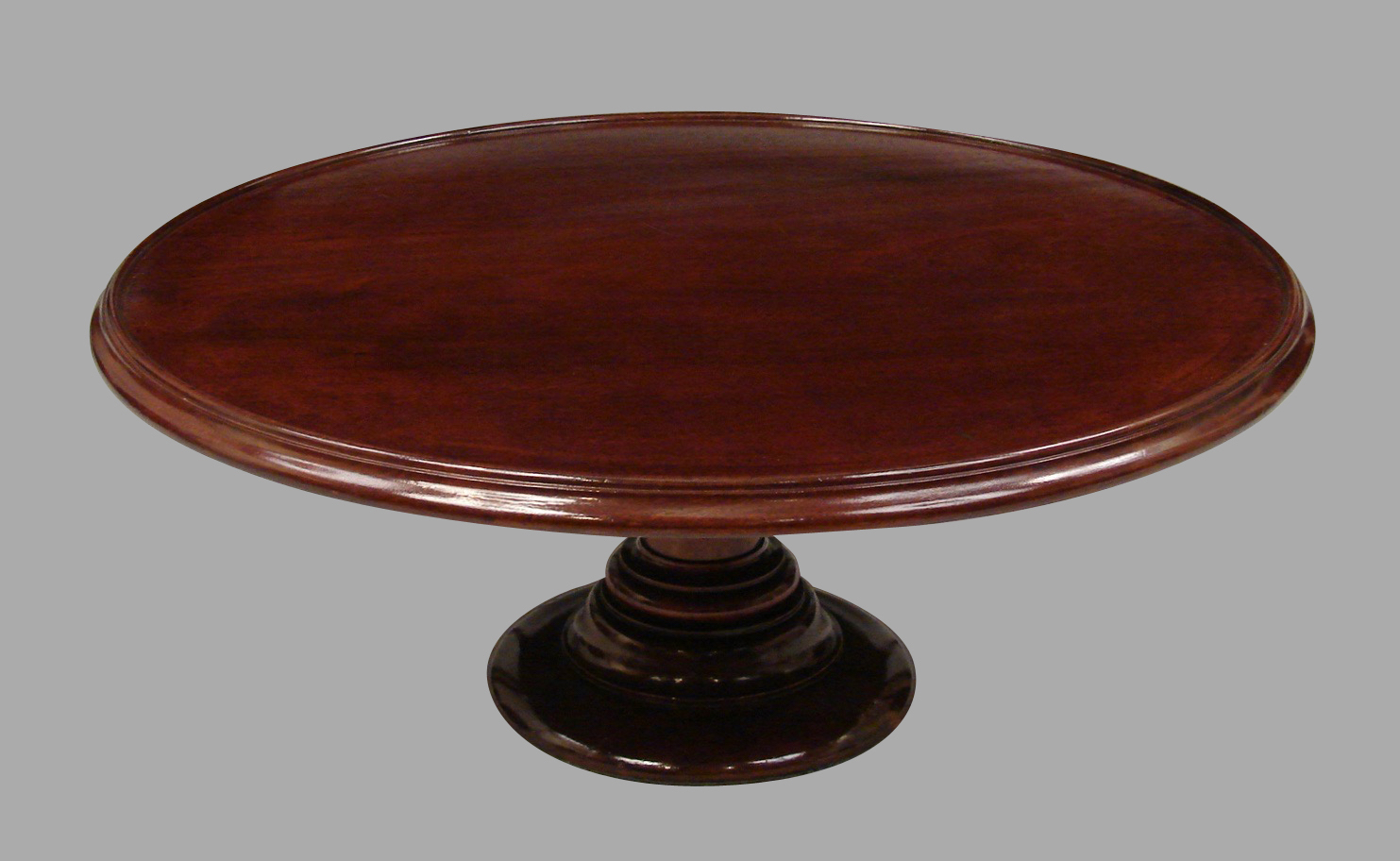 English Mahogany Lazy Susan | DANIEL STEIN Antiques San Francisco CA
