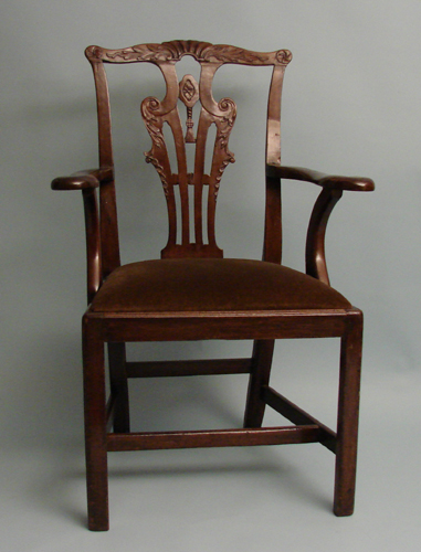 English Chippendale Mahogany Armchair | DANIEL STEIN Antiques San Francisco CA