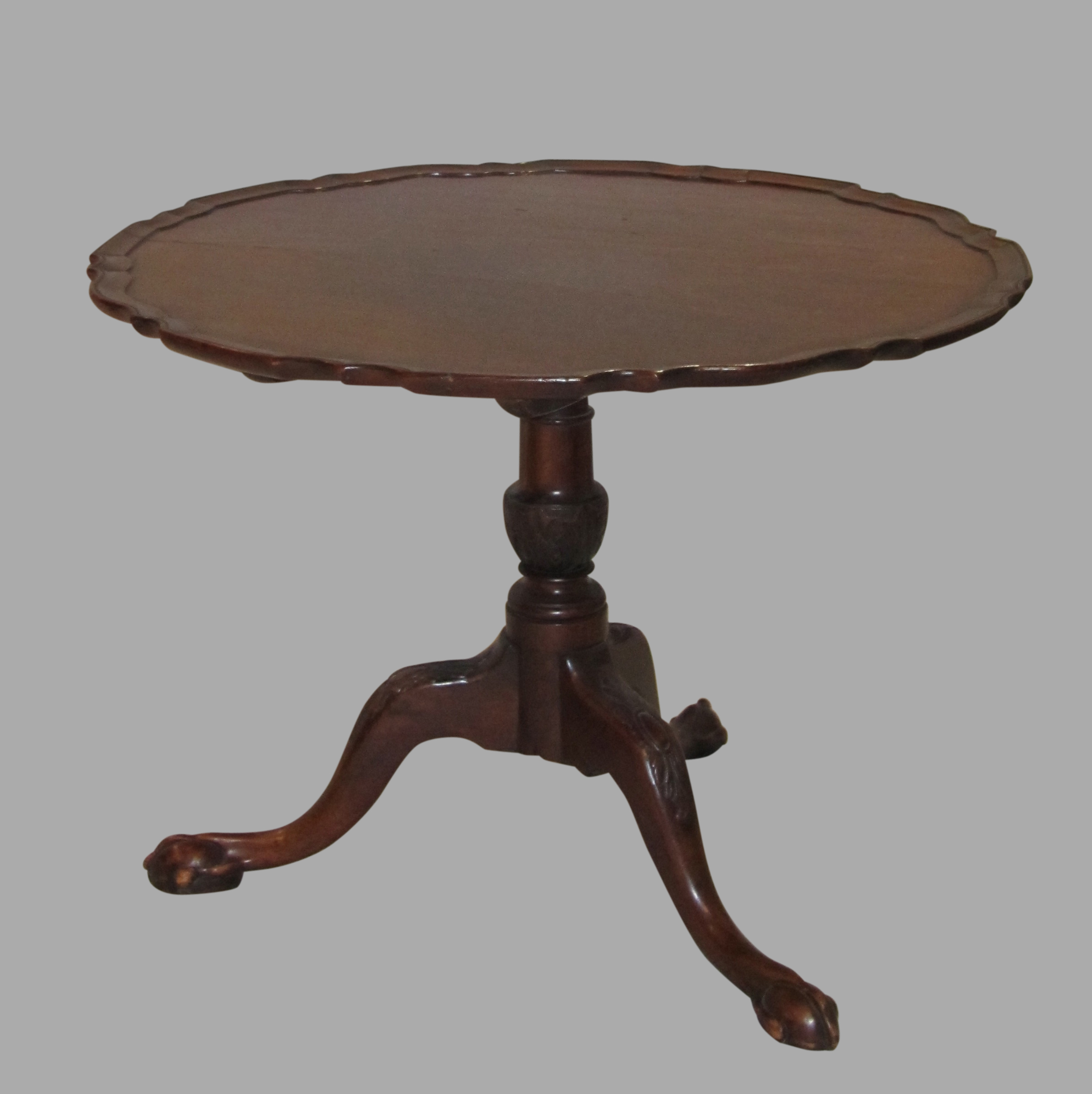 Georgian 18th Century Mahogany Tripod Table | DANIEL STEIN Antiques San Francisco CA