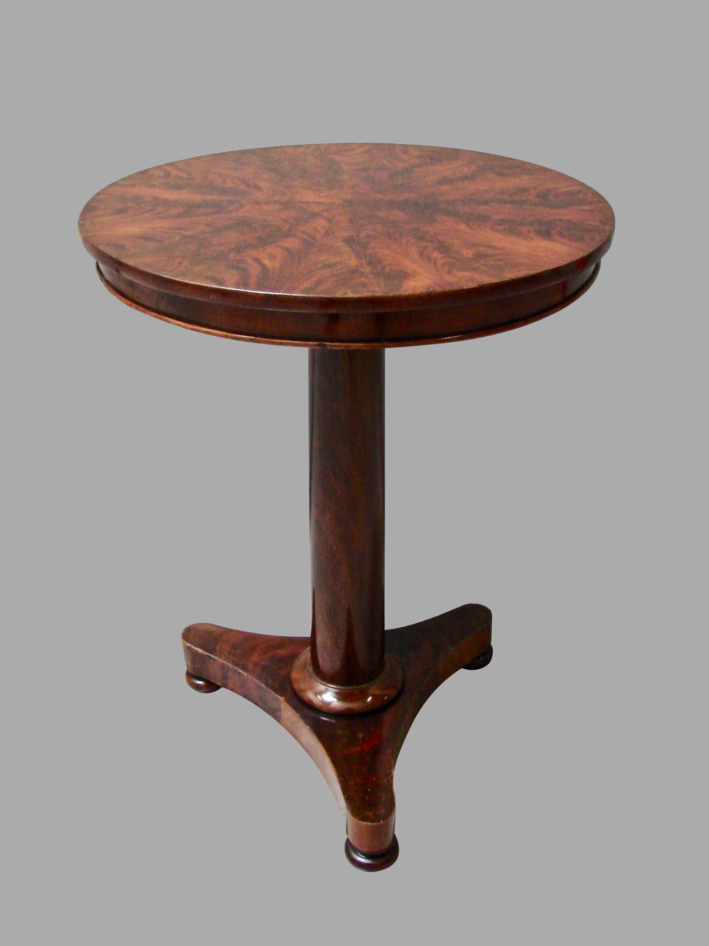 Empire Mahogany Occasional Table with Tripod Base | DANIEL STEIN Antiques San Francisco CA