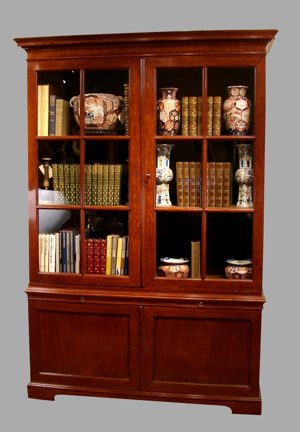 English George III Mahogany Bookcase Cabinet | DANIEL STEIN Antiques San Francisco CA