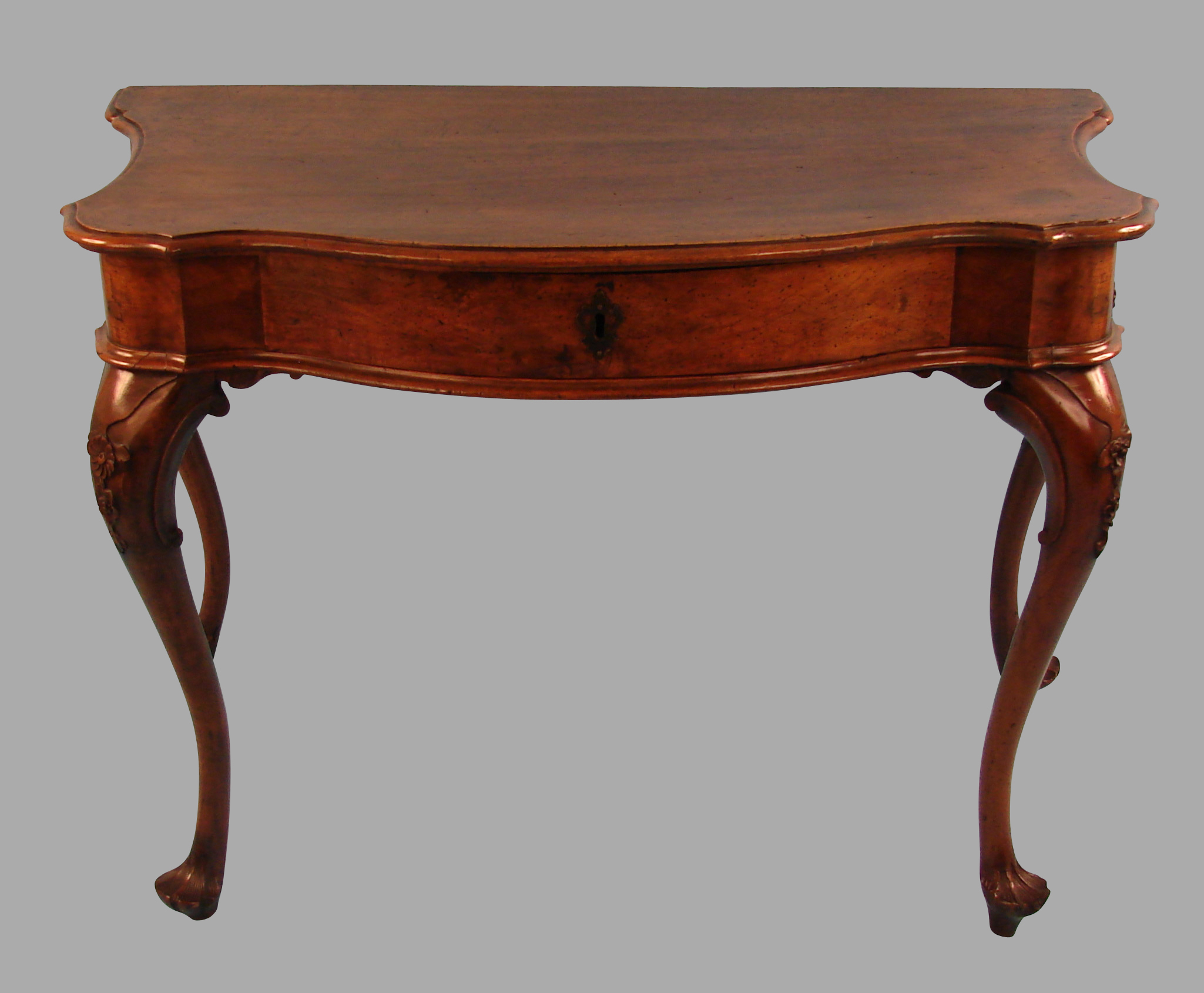 18th Century Italian Baroque Walnut Table  | DANIEL STEIN Antiques San Francisco CA