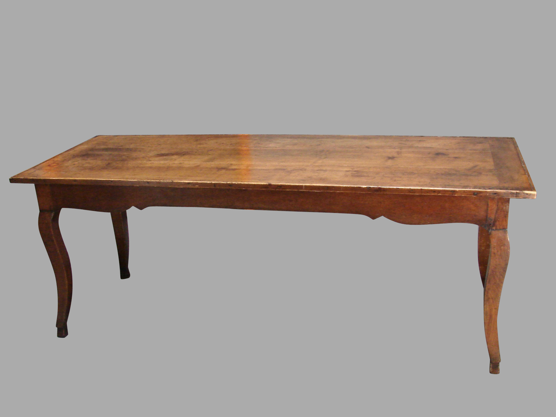 19th Century French Fruitwood Farm Table with Long Drawer | DANIEL STEIN Antiques San Francisco CA