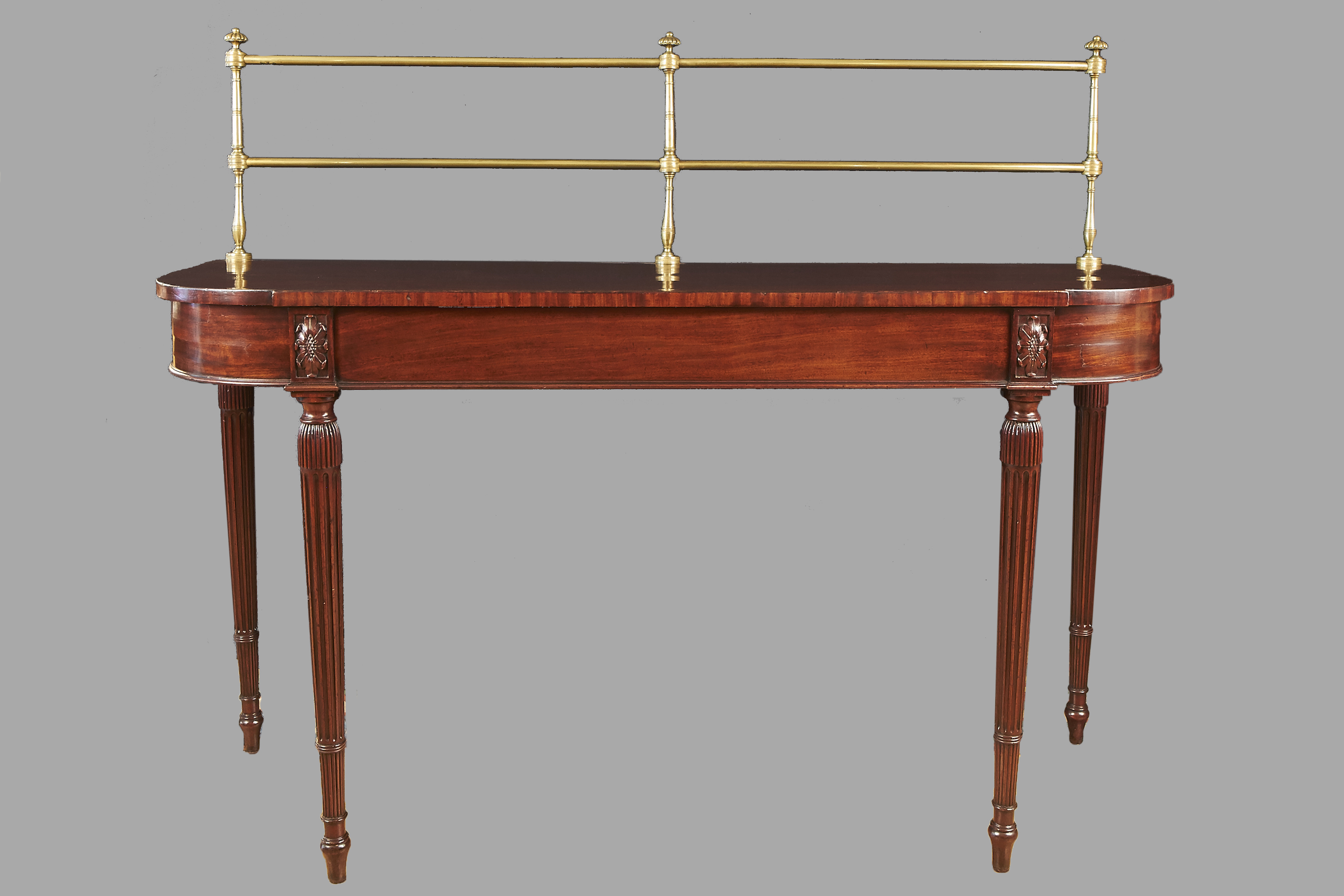 George III Mahogany Server with Brass Gallery | DANIEL STEIN Antiques San Francisco CA