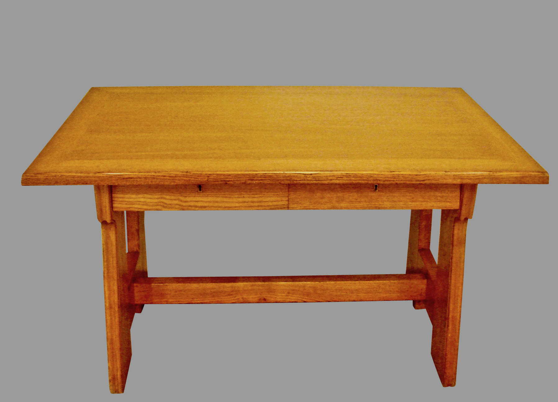 Continental Oak Arts & Crafts Table with 2 Drawers | DANIEL STEIN Antiques San Francisco CA