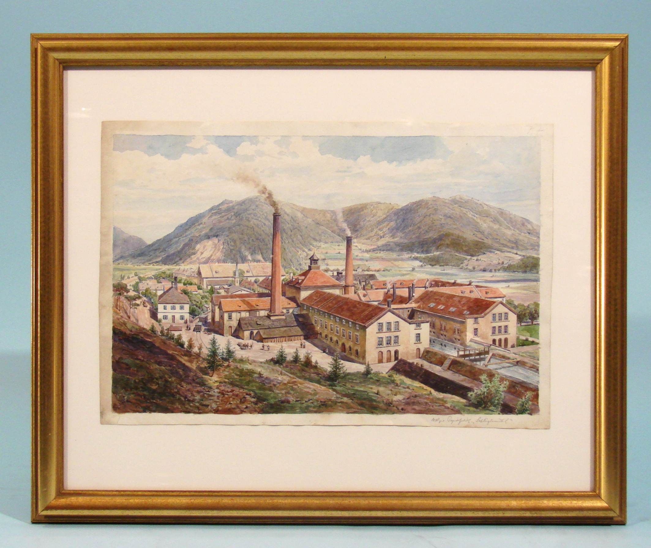 20th Century Watercolor by Erwin Pendel | DANIEL STEIN Antiques San Francisco CA