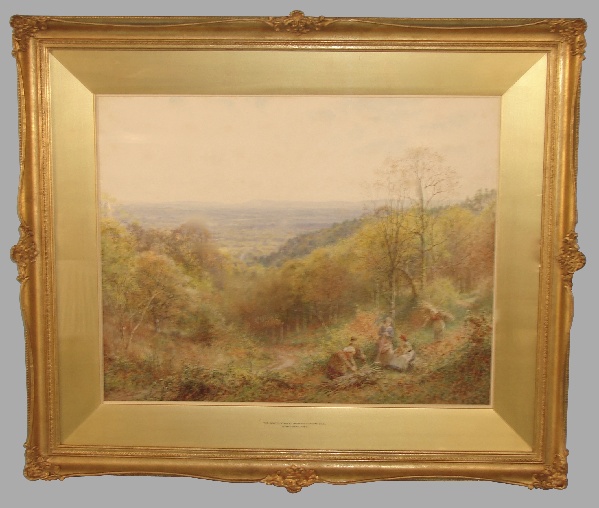 19th Century Watercolor by Charles Gregory | DANIEL STEIN Antiques San Francisco CA