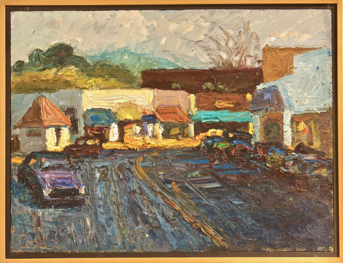 Oil on Masonite by Jerrold Turner of Marin County Town | DANIEL STEIN Antiques San Francisco CA